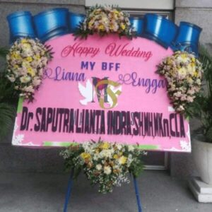 bunga papan wedding 3